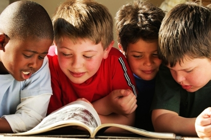four boys reading, from Google Images