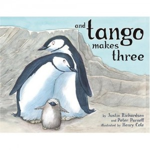 Roy and Silo are two male penguins who raise a chick, Tango, together.